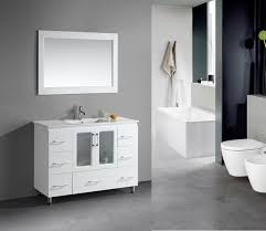 stanton 48 inch white finish bathroom vanity set