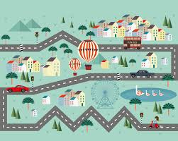 mini adventure wallpaper mural plasticbanners com mini adventure road track wall mural