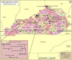 map of ky and surrounding areas list of universities in kentucky map of kentucky universities and