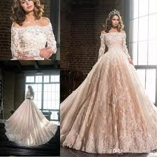 blush wedding dress with sleeves discount 2017 new blush wedding dresses shoulders