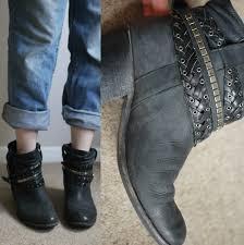 biker boots u0026 bromley chunky black leather studded ankle rockafella biker