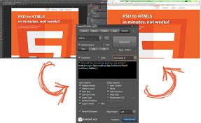 html header design online convert a psd to html5 export kit