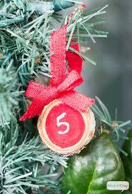 wood slice advent tree ornaments atta says