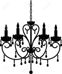 Antique Chandelier Silhouette Of Antique Chandelier Royalty Free Cliparts Vectors
