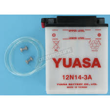yuasa conventional 12 volt battery 12n14 3a motorcycle