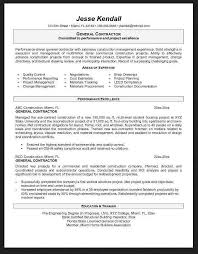 Sample General Resume Objective by General Contractor Resume Samples General Objective For Resume