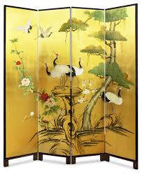 Gold Room Divider Hand Painted Gold Leaf Floor Screen Asian Screens And Room