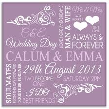 wedding gift personalised personalised wedding gifts word typography in lilac on