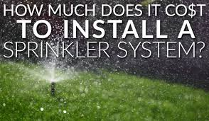 how much does it cost to install a ceiling fan how much does it cost to install a sprinkler system az sprinkler blog
