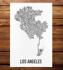 make your own wedding map los angeles neighborhood map art print features local pride