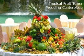 fruit centerpiece diy tropical fruit tower wedding centerpiece dot women