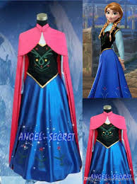 2015 classic snow queen princess anna dress cloak suit
