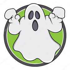 spooky clip art spooky ghost badge u2014 stock vector baavli 32532127