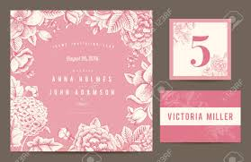 E Wedding Invitation Cards Set Backgrounds To Celebrate The Wedding Invitation Card Table