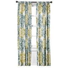Green And Blue Curtains Boutique Mosaic Brocade Window Panel Blue Green I Target