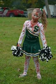 Girls Cheerleader Halloween Costume Zombie Cheerleader Costume Homemade Halloween Costumes