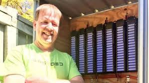 diy tesla powerwall australian man s diy powerwall made from scrap batteries abc news