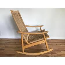 Mid Century Modern Rocking Chair Vintage Mid Century Modern Hans Wagner Style Rocking Chair In