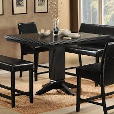shop homelegance papario black square dining table at lowes com