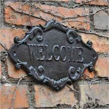 Home Decor Signs And Plaques by Online Get Cheap Outdoor Metal Signs Aliexpress Com Alibaba Group