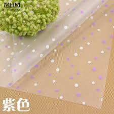 floral wrapping paper rolls aliexpress buy 10pc lucky paper clear cellophane roll flower