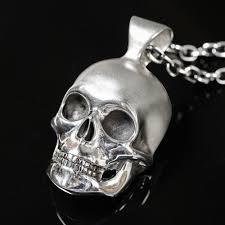skull pendant necklace images Jimbo silver skull pendant necklace dead ringers jpg