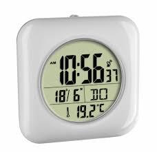badezimmer uhr 60 4513 digitale funk badezimmeruhr mit temperaturanzeige