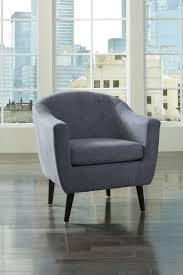 Barrel Accent Chair 3620721 Klorey Barrel Back Accent Chair Denim Tone Upholstery
