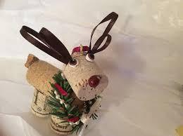 amazon com wine cork reindeer holiday christmas ornament handmade