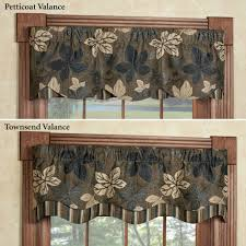Chocolate Brown Valances For Windows Tailored Valances Touch Of Class