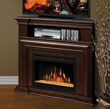 corner electric fireplace tv stand classic rustic modern
