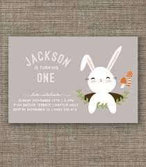 rabbit invitation bunny rabbit woodland party invitation for kids party 1st 2nd 3rd