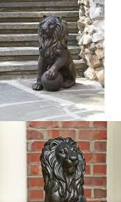 statues and lawn ornaments 29511 garden lion statue bronze