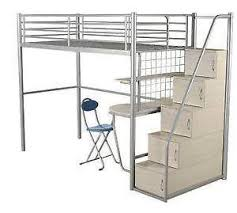 Metal Bunk Beds EBay - Metal bunk bed with desk