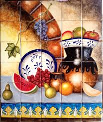 hand painted tiles for kitchen backsplash kitchen backsplash mexican tile murals mexican hand painted