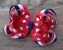 fourth of july hair bows 4th of july hair bow etsy