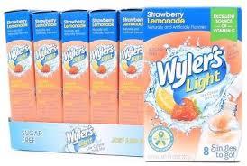 wyler s light singles to go nutritional information 12 wyler s light low calorie soft drink mix sugar free lemonade 1 57