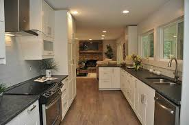 Kitchen Cabinets Marietta Ga by Contemporary Kitchen With Galley U0026 Hardwood Floors In Marietta Ga