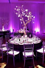 purple wedding decorations make your wedding look pretty and with purple and silver