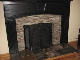 ceramic tile fireplace surround black stone fireplaces elegant