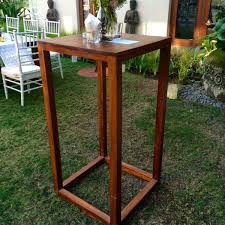 cocktail table rental wooden cocktail table bali event furniture rental