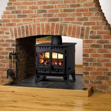 hunter herald 6 double sided wood burning stove double depth