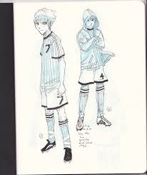 soccer inked sketches from my sketchbook villian by mikekoizumi