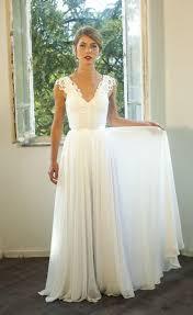 Chiffon Wedding Dresses Romantic Vintage Inspired Lace Wedding Dress Custom Made Chiffon