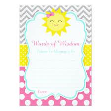 Words Of Wisdom Cards New Mom Advice Cards Invitations Greeting U0026 Photo Cards Zazzle