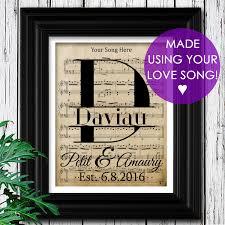 Custom Burlap Art Print Love - 1st year anniversary gift on velvet paper choose your song sheet