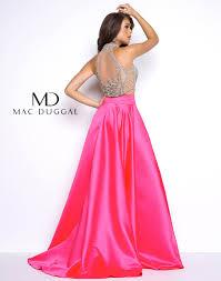 two piece prom dress mac duggal 20062m