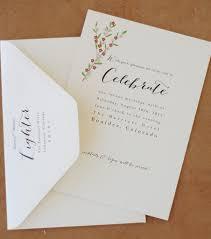 Cherry Blossom Wedding Invitations Cherry Blossom Wedding Invitation On Recycled Paper Paperfish