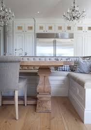 kitchen island with table built in built in dining banquette transitional dining room hayburn and co