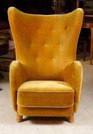 Velvet Wingback Chair Fabolous Yellow Wingback Chair Design Ideas Rilane